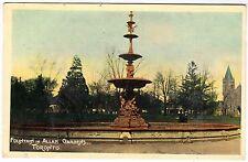 FOUNTAIN IN ALLAN GARDENS - Canada - Toronto - vintage postcard
