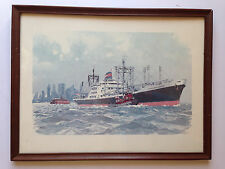 1963 French Artist A. Brener  President Jackson Ship NEW YORK Pint  /Poster