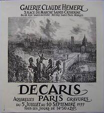DECARIS ALBERT AFFICHE PARIS 1977 SIGNÉE À L'ENCRE HANDSIGNED POSTER EXPO PARIS