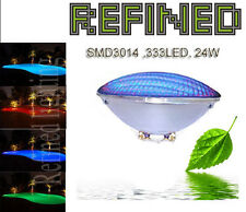 Par56 led swimming pool light bulb lamp 24W RGB with remote controlled