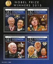 Solomon Islands 2015 MNH Nobel Prize Winners 4v M/S Physics Medicine Stamps