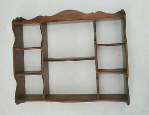 Vintage Ethan Allen Wooden Wall Hanging Shelf with Picture Groove 470140 Solid