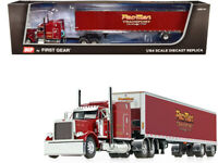 "Peterbilt 379 ""Pac-Man Transport"" Trailer Burgundy 1/64 Diecast DCP First Gear"