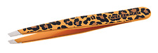 Tweezerman Genuine SLANT TWEEZER Slanted Tip LEOPARD PRINT Eyebrow Brow Tweezers