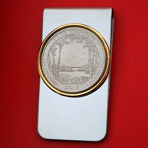US 2013 New Hampshire White Mountain National Forest BU Quarter Coin Money Clip