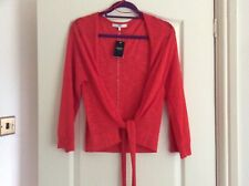 BNWT Next ladies lovely tie front red kimono cardigan size XS