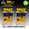 Space Invaders Arcade Artwork Side Sticker set logos / Laminated All Sizes