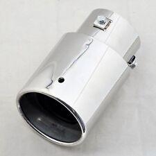 WOO Car Universtal Stainless Steel Exhaust Muffler Tip 45-70mm Inside Diameter