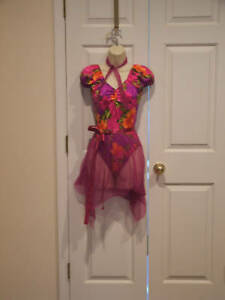 new in  package tropical  DANCE Recital costume adult large fits 7-9