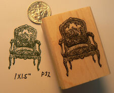 "P32 fauteuil chair rubber stamp 1x0.7"" miniature"