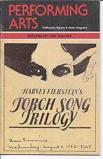 Torch Song Trilogy (1983) Playbill, Theatre on the Square,  Harvey Fierstein