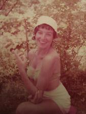 VINTAGE AMERICAN REDHEAD JUNE 1957 BIKINI PINUP BEAUTY BATHING SUIT SWIM PHOTO