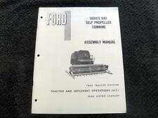 Original 1966 Ford 640 Slef-Propelled Combine Assembly Manual Minty
