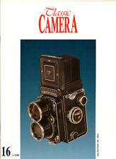 Classic Camera  N.16 Ottobre 1995 rivista in italiano collezionismo fotografico