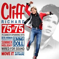 Cliff Richard - 75 at 75 - Career Spanning Hits (CD ALBUM) 3xCD NEW & SEALED