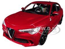 ALFA ROMEO STELVIO QUADRIFOGLIO RED 1/24 DIECAST MODEL CAR BY BBURAGO 21086