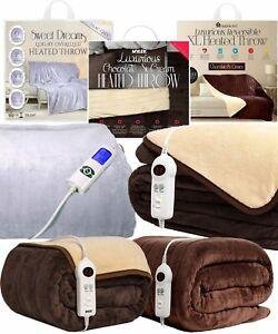 Heated Throw Electric Over Blanket Digital Control XL Large Washable Fleece