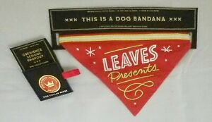 Dog Present Christmas Leaves Presents Red Bandana Set Funny Pet Owner Gift