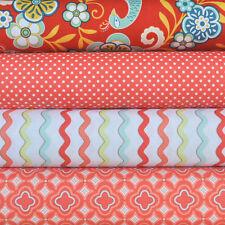 Kensington Red 4 Fabric Fat Quarters by Emily Taylor Designs/Riley Blake, 1 yard