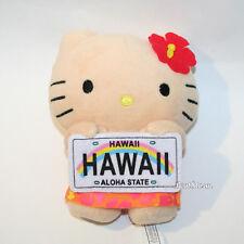 NEW Hello Kitty HAWAII Girl Plush DOLL Aloha State License Plate Toy San Rio