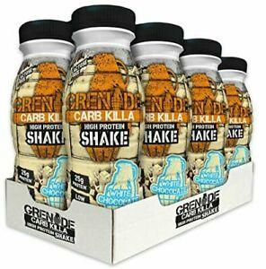 8 x Grenade Carb Killa White Chocolate High Protein Shake 330ml