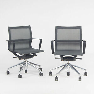 2018 Vitra Physix Rolling Desk Chair by Alberta Meda Gray Mesh Sets Available