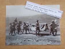 MILITARY PHOTOGRAPH - INDIAN ARMY - STRETCHER PARTY IN SOUTH AFRICA c1901 - m462