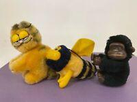 Vintage Hugger Lot - 3 Vintage Clip on Characters- Romper Room DooBee & Garfield