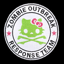 "Hello Kitty Cute Zombie Outbreak Embroidered Iron-On Patch 3 7/8"" x 3 7/8"", New!"