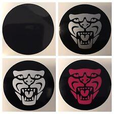 8pc Jaguar Center Cap Vinyl Sticker Decal Overlay W/ Background Circles