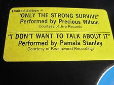 Limited Edition Sound Energy Mixes Precious Wilson & Pamala Stanley Near Mint h