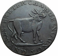 1797 ENGLAND UK Middlesex LONDON  EXHIBITION of ANIMALS Conder TOKEN Coin i80287