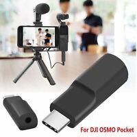 Para DJI OSMO Pocket Cámara Adaptador Audio de Micrófono Externo Tipo C a 3,5mm