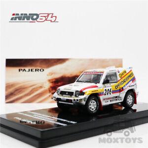 INNO 1:64 MITSUBISHI PAJERO EVO #206 OFF ROAD Paris Granada Dakar 1998 Model Car