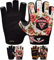RDX WEIGHT LIFTING bodybuilding GYM Fitness LEATHER GLOVES SLIM FITTING WOMEN A
