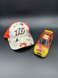 #16 hat and 2004 Charter/Flash #60 diecast autographed by Greg Biffle