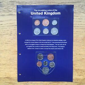 Circulating coins of the United Kingdom set blue display card