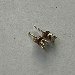 14 Karat Gold Diamond Stud Earrings with 2 0.15 CARAT Diamonds, Total: 0.3 CARAT