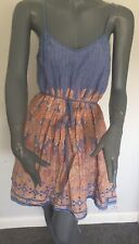 Kate Moss for Topshop  Size 8 Paisley Cotton Lined Summer Sundress