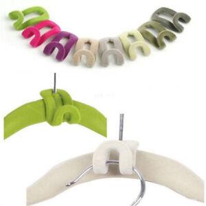 5x Hanger Connector Non-Slip For Closet Clothes Cascade Hangers Hook Organizer