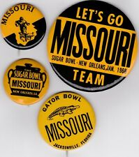 Missouri Tigers Mizzou Football Button Pin Pinback Badge Lot (4) PLEASE READ