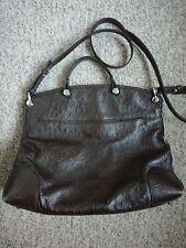 Furla Handbag Brown Ostrich leather