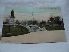 St. LOUIS MO Missouri Lafayette Park & Monument early 1900's Postcard