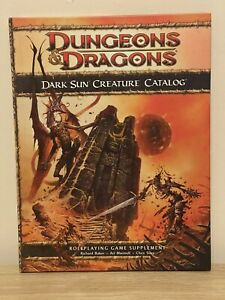 Dungeons and Dragons Dark Sun Creature Catalog for 4th Ed D&D First Edition 2010