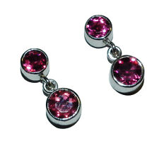18ct White Gold & Pink Tourmaline Drop Earrings (WAS £320)