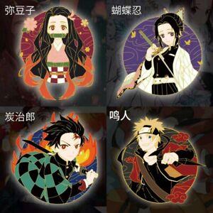 Demon Slayer Tanjirou Nezuko Kochou Shinobu Metal Badge Brooch Pin Gift Anime