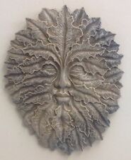 Mythical Leaf Man Green Face Gothic Wall Plaque Home Garden decor