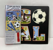 Soccer Goal Scrapbook Photo Album 20 Patterned Pages 200 Stickers 23 Stencils