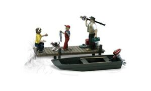 New Woodland HO Scale Family Fishing Train Figures A1923