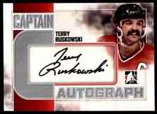 2011-12 AUTOGRAPH TERRY RUSKOWSKI AUTO CS CHICAGO BLACKHAWKS #A-TR